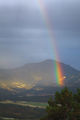 thunder, storm, rainbow, mountains, valley, park, national, colorado