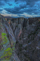 canyon, park, national, color, lichens, sunset, abyss, depth, river, overlook, dark