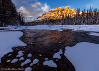 Banff National Park, Canada, Alberta, mountains, Bow River Valley,  sunset