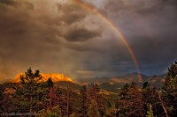 Storm light, National Parks, Colorado, rainbow