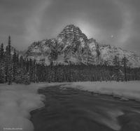 Mt. Chephren Moonset
