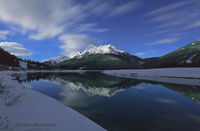 Canada, ice, snow, mountains, lakes,  kananaskis, country, wilderness