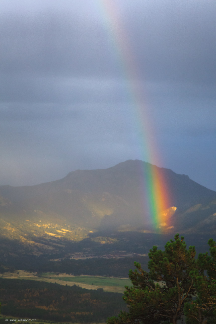 thunder, storm, rainbow, mountains, valley, park, national, colorado, photo