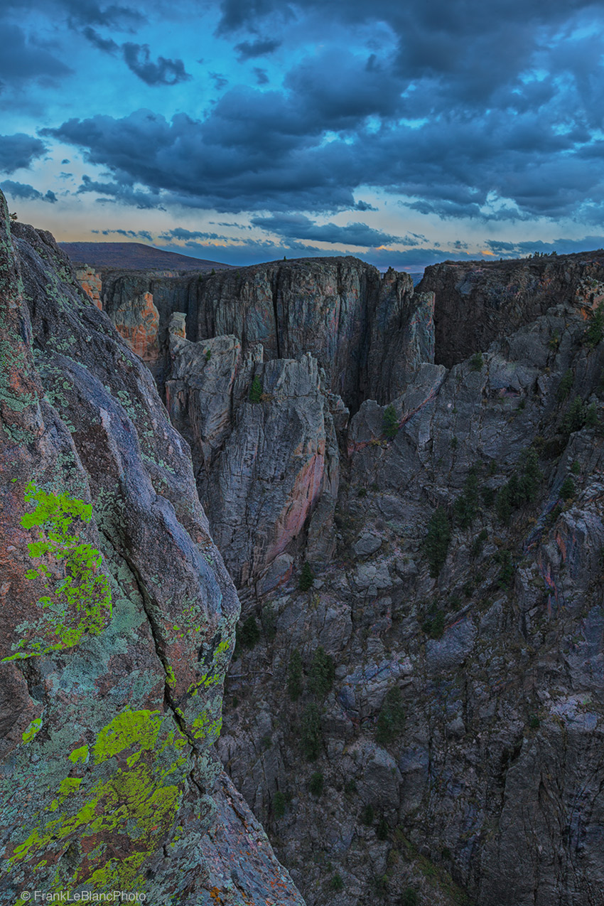 canyon, park, national, color, lichens, sunset, abyss, depth, river, overlook, dark, photo