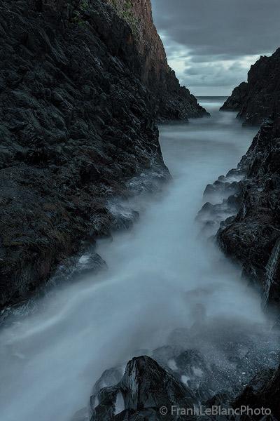 oregon, coast, tide, wave, action, sandstone, tower, photo