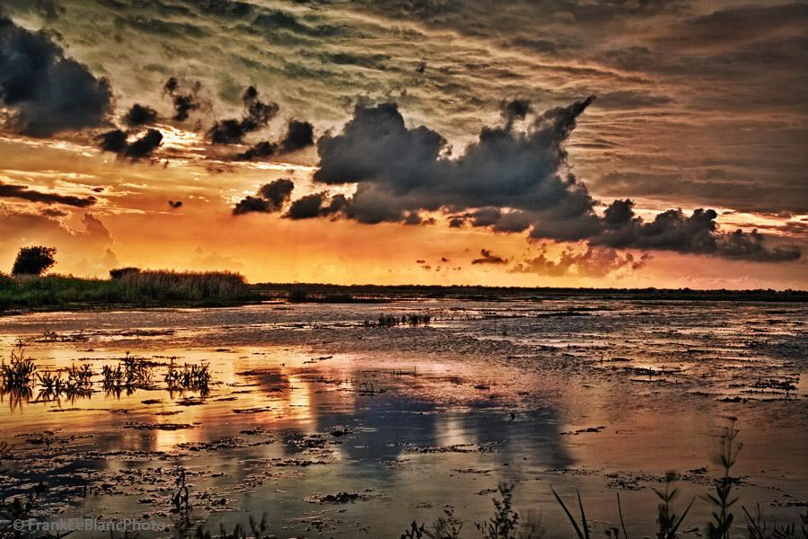wildlife refuge, Cameron, Louisiana, sunset, photo