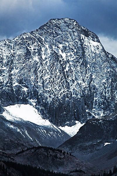 Capitol peak's north face. At 14,130 feet a colossol mountain, both beautiful, and clearly dangerous.