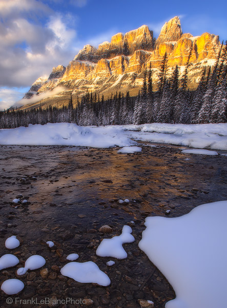 Banff National Park, Canada, Alberta, mountains, Bow River Valley, sunset, photo