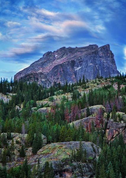 Hallett peak, national parks, Colorado, summer, photo