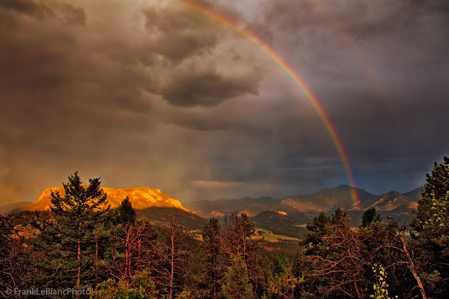 Storm light, National Parks, Colorado, rainbow , photo