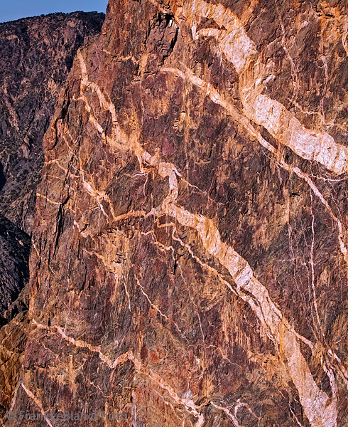 Pegmatite mural appears to be an abstract painting created by natural forces.