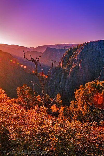 national park, Black Canyon, Colorado, sunrise, Tomichi Point, photo